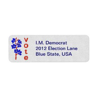 VOTE 2012 RETURN ADDRESS LABEL