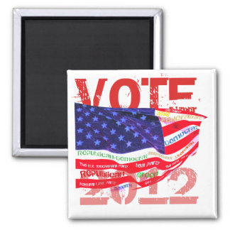 Vote 2012 T-shirts & gifts 2 Inch Square Magnet