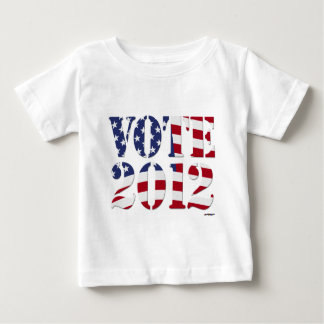 VOTE 2012 with US Flag Baby T-Shirt