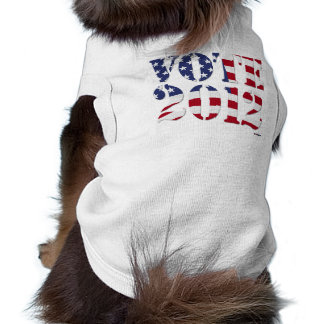 VOTE 2012 with US Flag Doggie Tee