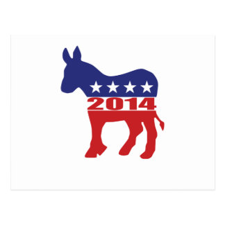 Vote 2014 Democratic Party Postcard