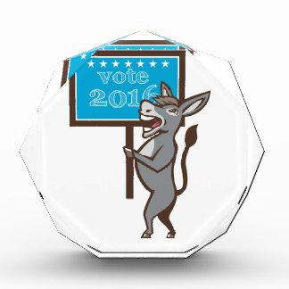 Vote 2016 Democrat Donkey Mascot Cartoon Award