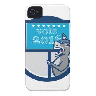 Vote 2016 Democrat Donkey Mascot Cartoon Case-Mate iPhone 4 Case