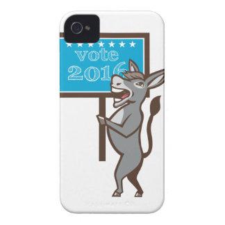 Vote 2016 Democrat Donkey Mascot Cartoon iPhone 4 Cover