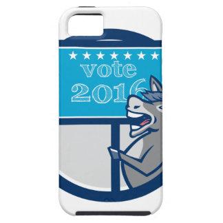 Vote 2016 Democrat Donkey Mascot Cartoon iPhone SE/5/5s Case