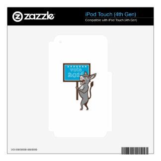 Vote 2016 Democrat Donkey Mascot Cartoon iPod Touch 4G Skin