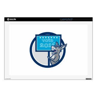 "Vote 2016 Democrat Donkey Mascot Cartoon Skin For 17"" Laptop"
