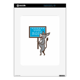Vote 2016 Democrat Donkey Mascot Cartoon Skin For iPad