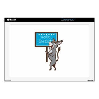 Vote 2016 Democrat Donkey Mascot Cartoon Skin For Laptop