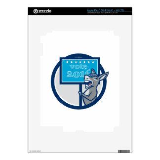 Vote 2016 Democrat Donkey Mascot Cartoon Skins For iPad 3