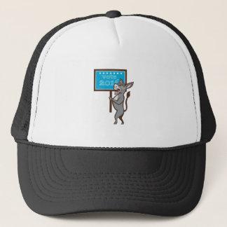 Vote 2016 Democrat Donkey Mascot Cartoon Trucker Hat