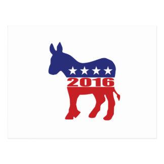 Vote 2016 Democratic Party Postcard