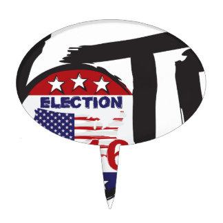 Vote 2016 Election Ink Brush Illustration Cake Topper