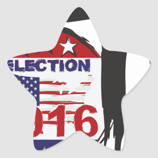 Vote 2016 Election Ink Brush Illustration Star Sticker