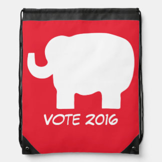Vote 2016 Election Republican Red Elephant Custom Drawstring Bag