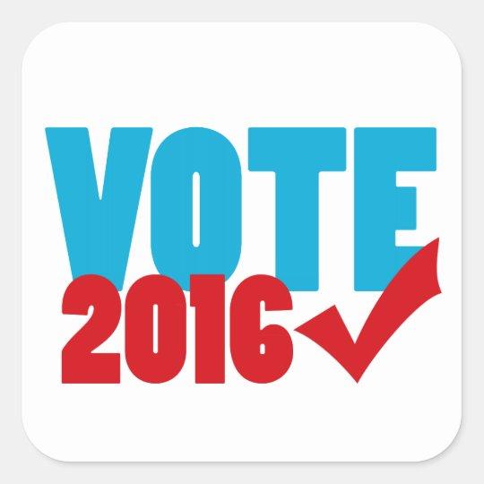 Vote 2016 square sticker
