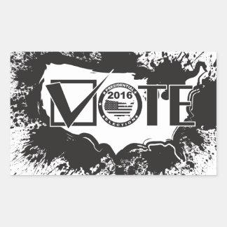 Vote 2016 USA Map Ink Splatter Outline Illustratio Rectangular Sticker