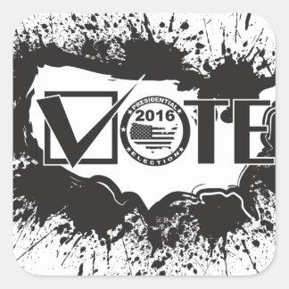 Vote 2016 USA Map Ink Splatter Outline Illustratio Square Sticker