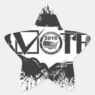 Vote 2016 USA Map Ink Splatter Outline Illustratio Star Sticker