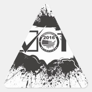 Vote 2016 USA Map Ink Splatter Outline Illustratio Triangle Sticker