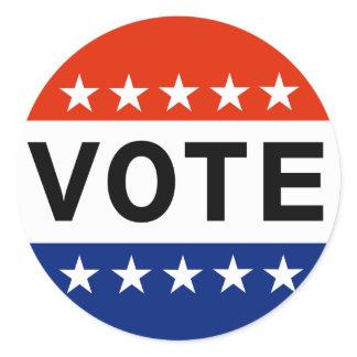 Vote 2018 Midterm Elections Classic Round Sticker