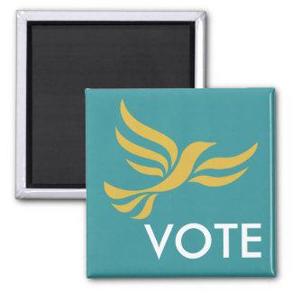 VOTE 2 INCH SQUARE MAGNET
