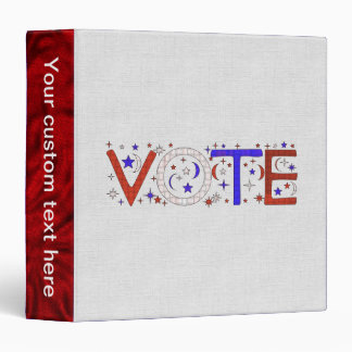 VOTE 3 RING BINDER