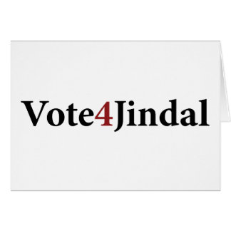 Vote 4 Jindal Card