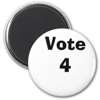 Vote 4 2 inch round magnet