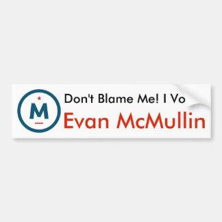 ¡Voté a Evan McMullin! Pegatina para el Pegatina Para Auto