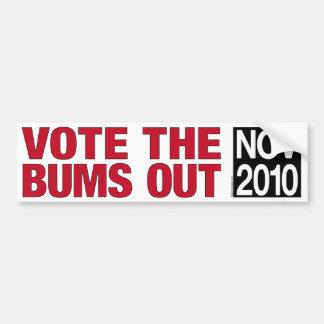 Vote a la pegatina para el parachoques de los vago pegatina para auto