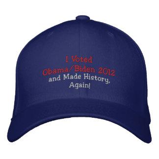 ¡Voté a Obama, Biden 2012 e hice historia, otra ve Gorros Bordados