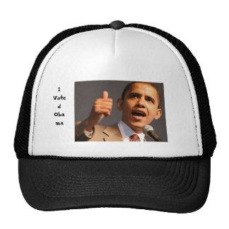 Voté a Obama Gorros Bordados