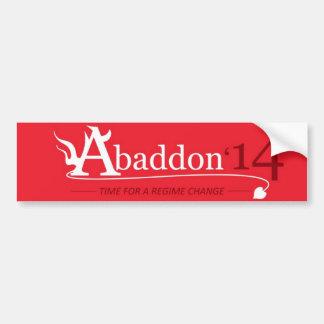 Vote Abaddon Car Bumper Sticker