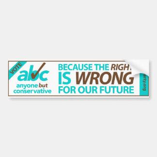 Vote ABC bumper sticker