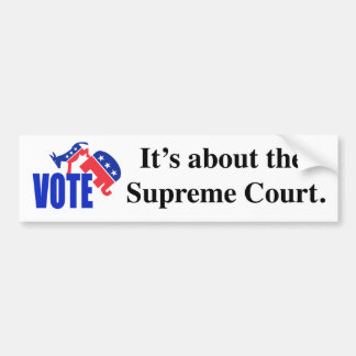 Vote about Supreme Court Bumper Sticker