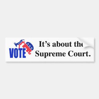 Vote about Supreme Court Bumper Sticker