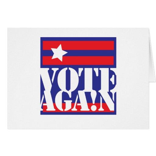 VOTE AGAIN GREETING CARD