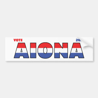 Vote Aiona 2010 Elections Red White and Blue Bumper Sticker