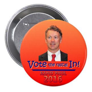 ¡Vote al bribón adentro! Pin Redondo 7 Cm