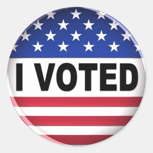 Voté - al pegatina