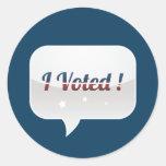 Voté al pegatina