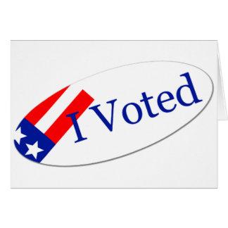 Voté al pegatina tarjeta