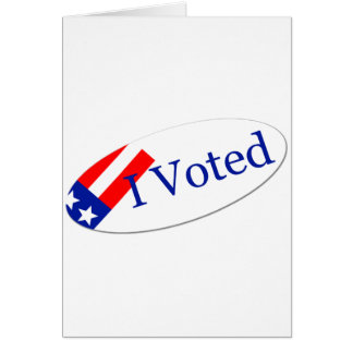 Voté al pegatina felicitación