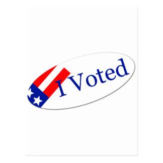 Voté al pegatina postales