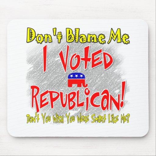 Voté al republicano tapetes de raton