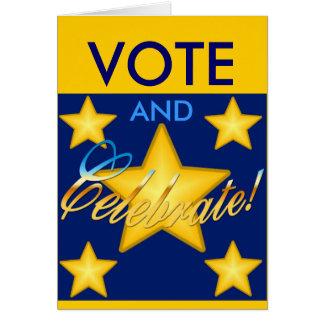 Vote and Celebrate! Card