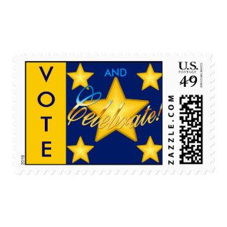 Vote And Celebrate! Postage
