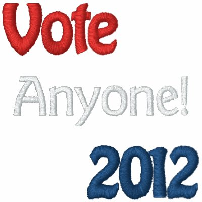 Vote Anyone! Embroidered Polo