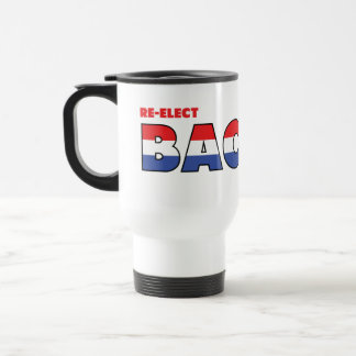 Vote Bachus 2010 Elections Red White and Blue 15 Oz Stainless Steel Travel Mug
